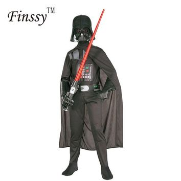 Star Wars Darth Vader Costume for Kids Darth Vader Jumpsuit Black Clothing With Cape Christmas Holiday Cosplay for Boys Girls