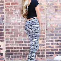 Winter Web Tribal Leggings