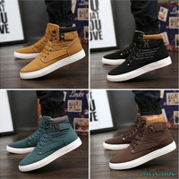 Mr.Choc Mens Shoes New Arrival Retro Style Casual High Top Sneakers Canvas Shoes [8833488972]