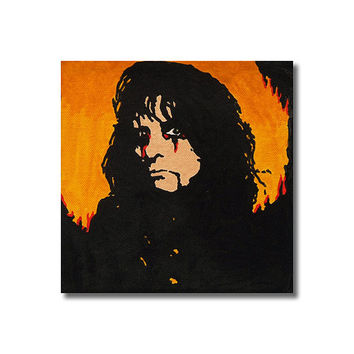 Alice Cooper RETRO- Wall Art Giclee Canvas Poster print