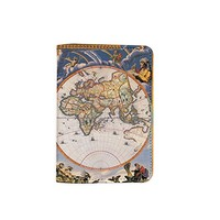 World Map Travel Leather Passport Cover - Vintage Passport Wallet - Travel Accessory Gift - Travel Wallet for Women and Men _Mishkaa