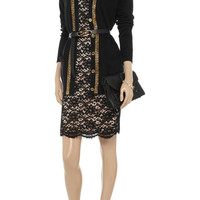 MICHAEL Michael Kors Chain-trimmed cotton-blend cardigan – 70% at THE OUTNET.COM