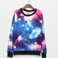 Starry Night galaxy star space print top