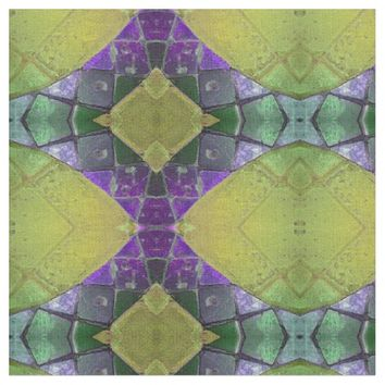Bold Purple and Yellow Shape Design Fabric