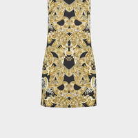 Versace Barocco Istante Print Mini Dress for Women | US Online Store
