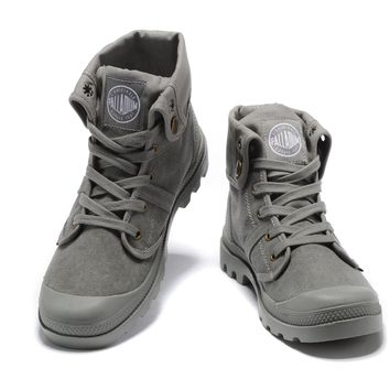 Palladium Baggy Lll Men Turn High Boots Gray - Beauty Ticks