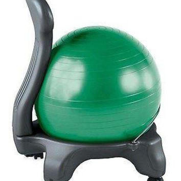DCCK1IN new ball balance chair fitness exercise office back yoga pain workout