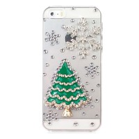 3D Christmas Tree Snow Phone Cases For iPhone 5, 5S