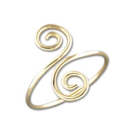 Snake Swirl Ring - Gold Filled