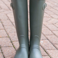 Rain Is A Good Thing Boots, Green