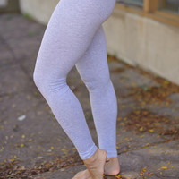 Cotton Leggings (Light grey) - Piace Boutique
