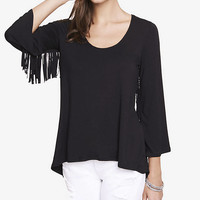 Bell Sleeve Fringe Tunic Top from EXPRESS