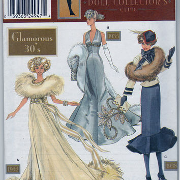 Pattern Doll Collectors Club Glamorous 30's  11.5 Fashion Dolls
