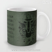 "Halo ""Feet First into Hell"" Mug ODST 11/15 oz Dishwasher Microwave Safe Cup Tea Coffee Drink For Him Olive Drab OD Green Video Game Dude Guy"