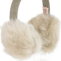 Karl Donoghue | Shearling and brushed-leather earmuffs | NET-A-PORTER.COM