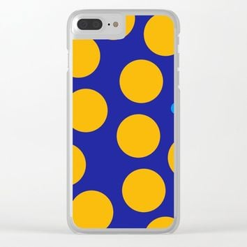 yellow dots Clear iPhone Case by netzauge