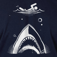 Shark attack T-Shirt Geek Fathers Day Christmas Dad Father Kids Gift Mens jaws nerd movie