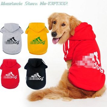 Big Dog Clothes Coat Jacket Clothing For Dogs Large Size Spring Warm Hoodie Apparel Sportswear perros mascotas Adidog Golden Dog