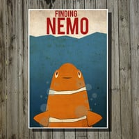 Disney poster Pixar poster movie poster finding nemo by Harshness