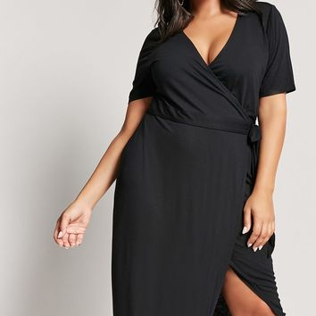 Plus Size Maxi Wrap Dress
