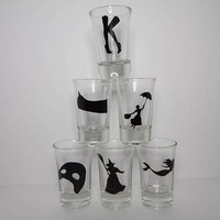 Broadway Musical Silhouette Shot Glasses