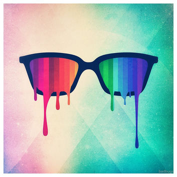 'Love Wins! Rainbow - Spectrum (Pride) / Hipster Nerd Glasses' by badbugs