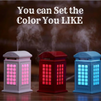 Creative Phone Box  Humidifier Essential Oil Diffuser with LED Lamp Electric USB Ultrasonic Aroma Diffuser Mist Maker