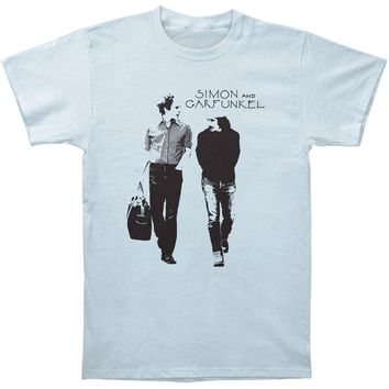 Simon & Garfunkel Men's  Walking Slim Fit T-shirt Blue