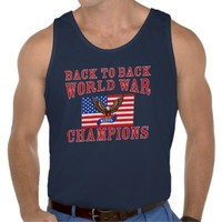 Merica Eagle Back to Back World War Champs Tank from Zazzle.com