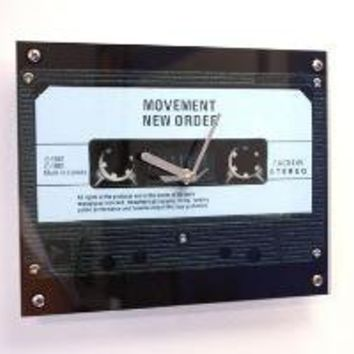 Clock New Order Movement Retro Cassette by blueorder on Etsy