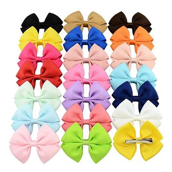 Baby Grosgrain Ribbon Bows Accessories With Clip Boutique Bow Hairpins Hair Ornaments Color