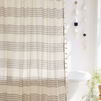 Isra Floating Weft Shower Curtain - Urban Outfitters
