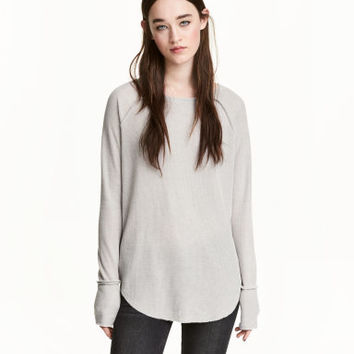 H&M Waffle-knit Jersey Top $24.99
