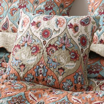 "DaDa Bedding Set of Two Garden Party Bohemian Throw Pillow Covers, 18"" x 18"",  2-PCS (LH1403-CC)"