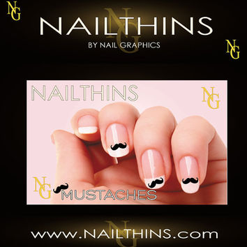 25  MUSTACHE  NAILTHINS Not  Water Slide Nail Decal by NAILTHINS