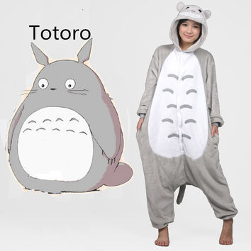 Pijama Full Flannel Totoro Pijamas Pajamas Pyjamas For Womens Adult Costumes SleepWear Home For Clothing Plus Size AS XXL