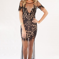 For Love and Lemons Luau Maxi Dress in Black