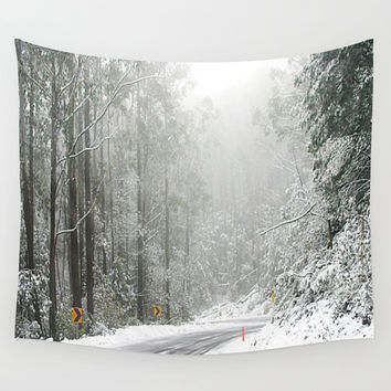 Down the Summit Wall Tapestry by Chris' Landscape Images & Designs