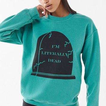 Literally Dead Pullover Sweatshirt | Urban Outfitters