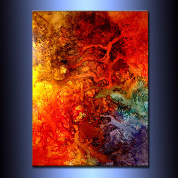 Abstract Art, Huge Abstract Painting,Original Abstract painting, Contemporary Modern Fine Art, Colorful Canvas Art, by Henry Parsinia 48x36