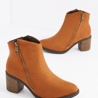 Camel Double Zipper Heel Bootie By Hot Kiss | Booties | rue21