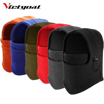 Victgoal Winter Fleece Cycling Mask Skiing CS Thermal Warm Dust Proof Windproof Masks MTB Bicycle Bike Cycling Face Cover