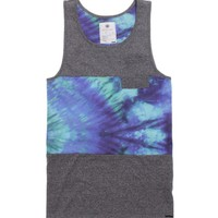On The Byas Gary Pieced Tie Dye Tank Top - Mens Tee - Gray -