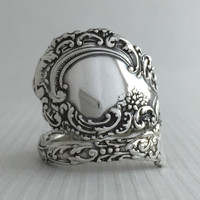 Size 8.5 Vintage Sterling Silver Wallace Spoon Ring