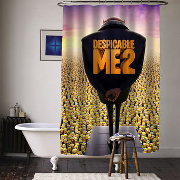 despicable me minion 2 special custom shower curtains available size
