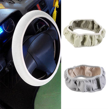 New Fabric Handmade Steering Wheel Cover Breathability Skidproof Universal Fits Most Car Styling Steering Wheel