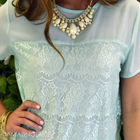 Eastvale Mint Lace Top