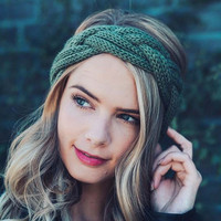 Fall Festival Headwrap in Olive