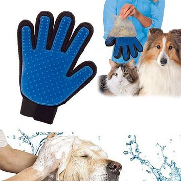 True Touch Dogs Finger For Pet Deshedding Hair Glove Brush Cat Comb Gentle Efficient Products Massage Grooming Pet Products 10S1