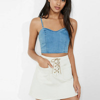 Denim Cropped Top from EXPRESS